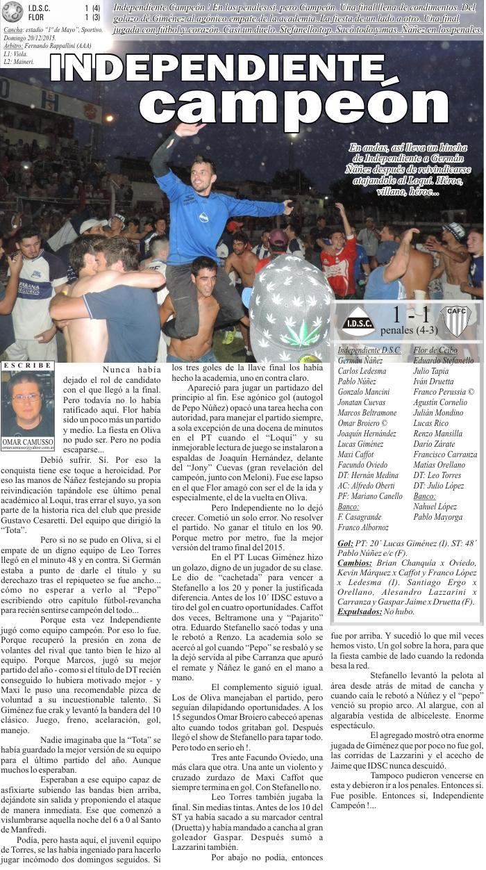 IDSC campeón cl 2015 - INTERIOR