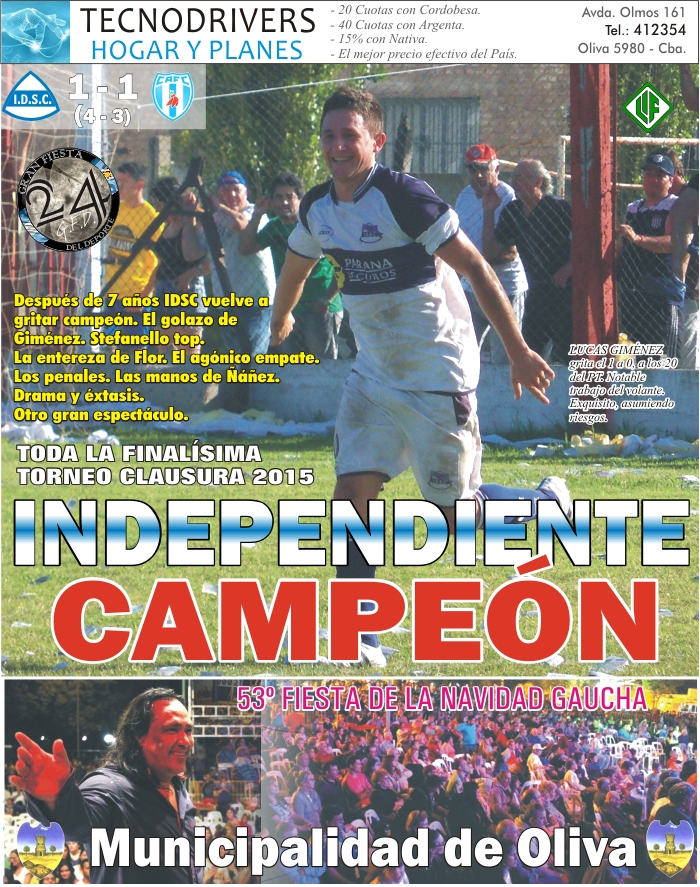 IDSC campeón cl 2015 - tapa